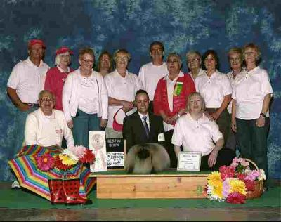 "Purebreds In The Pink ""Best In Show"" Winner for 2012 with some of the members of CIKC."